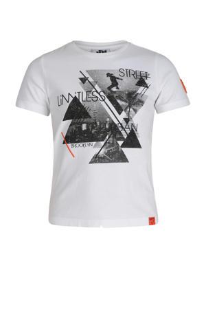 T-shirt met grafische printopdruk wit/zwart