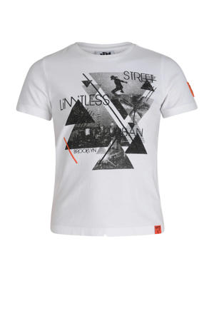 Mitch by Shoeby T-shirt met grafische printopdruk wit/zwart