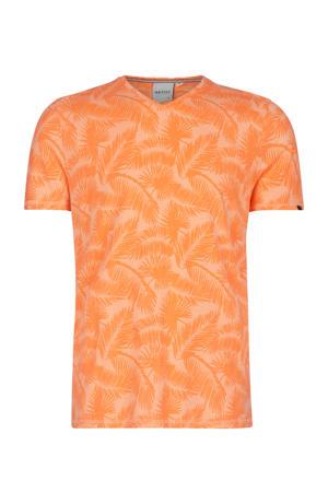 T-shirt Eon met all over print oranje