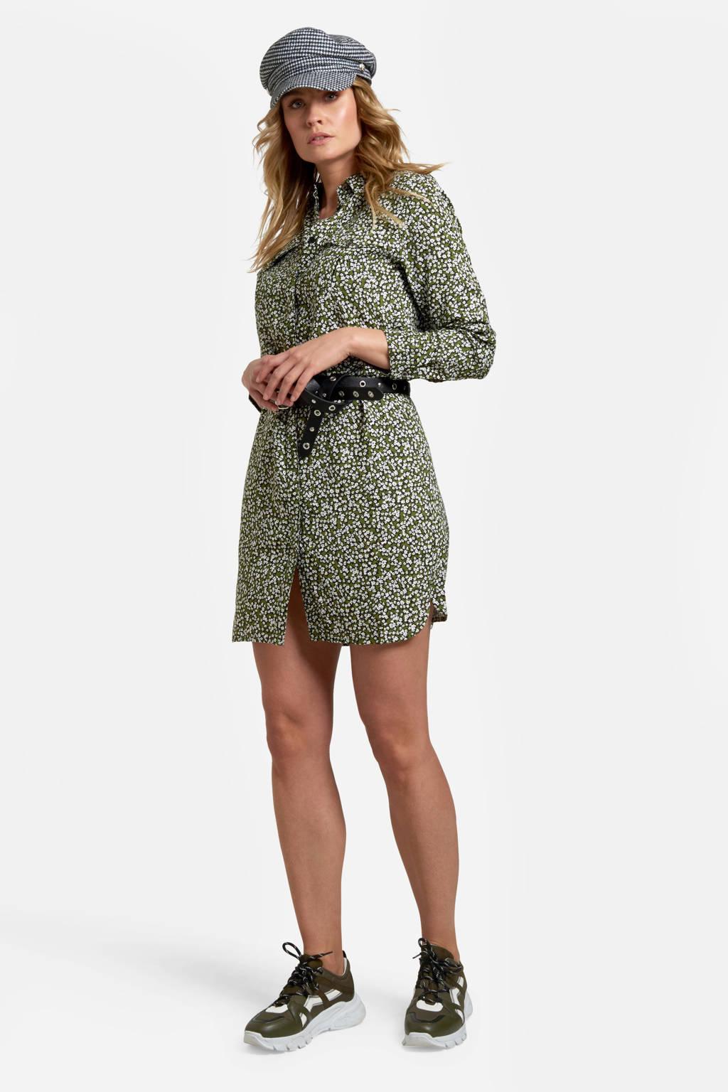 Eksept by Shoeby jurk met all over print antraciet, Antraciet