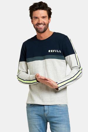 sweater l-grey melange