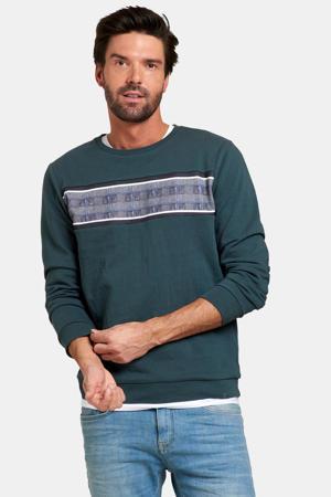 gestreepte sweater green