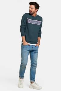Refill by Shoeby gestreepte sweater Dustin groen, Groen