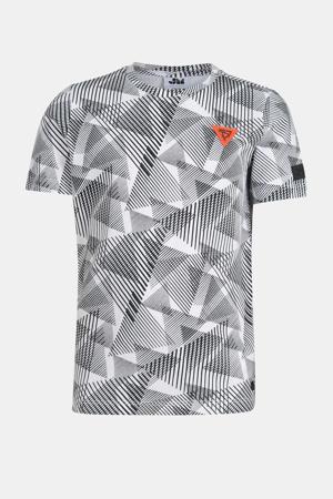 T-shirt Nacho met grafische print wit/zwart