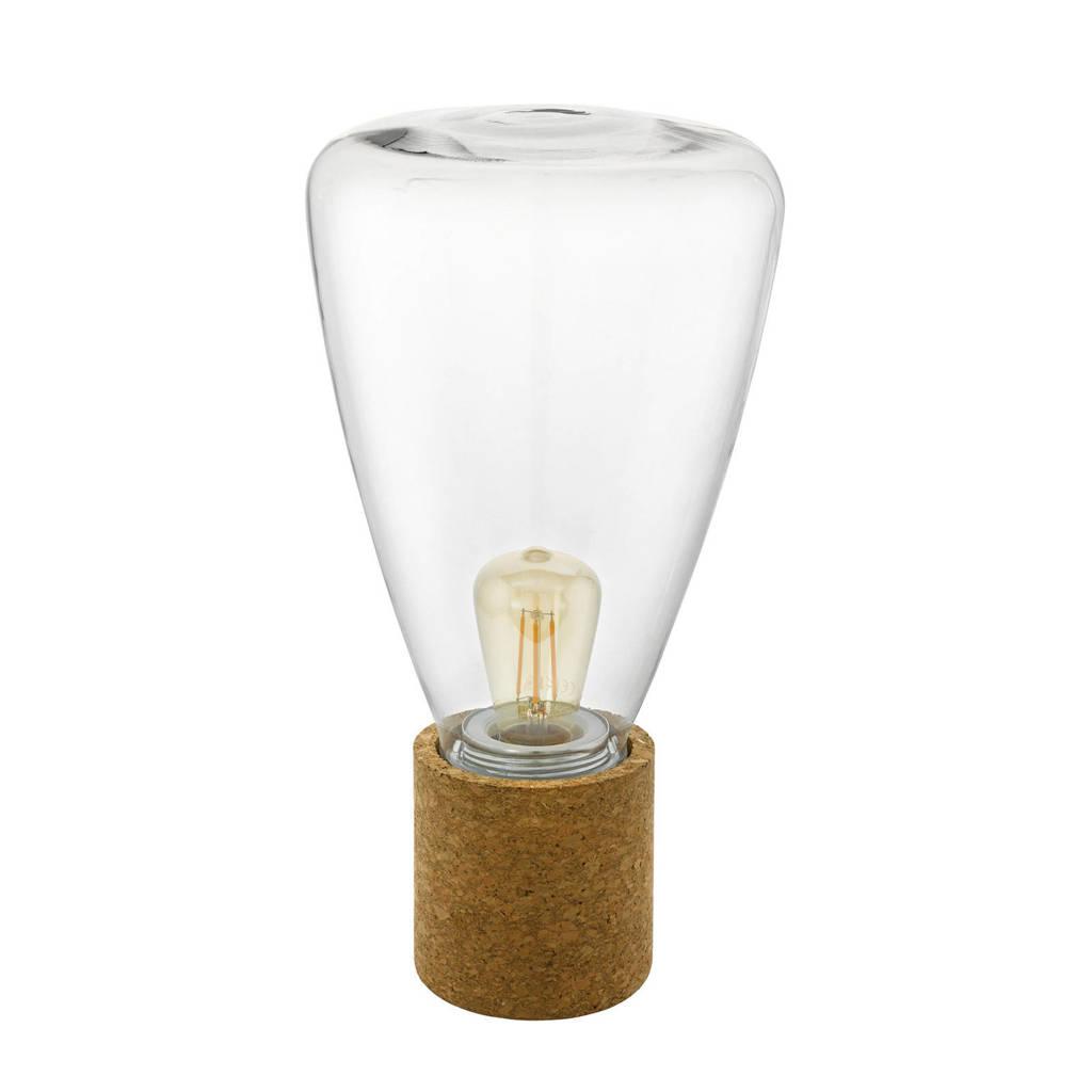 EGLO tafellamp Olival, bruin/helder