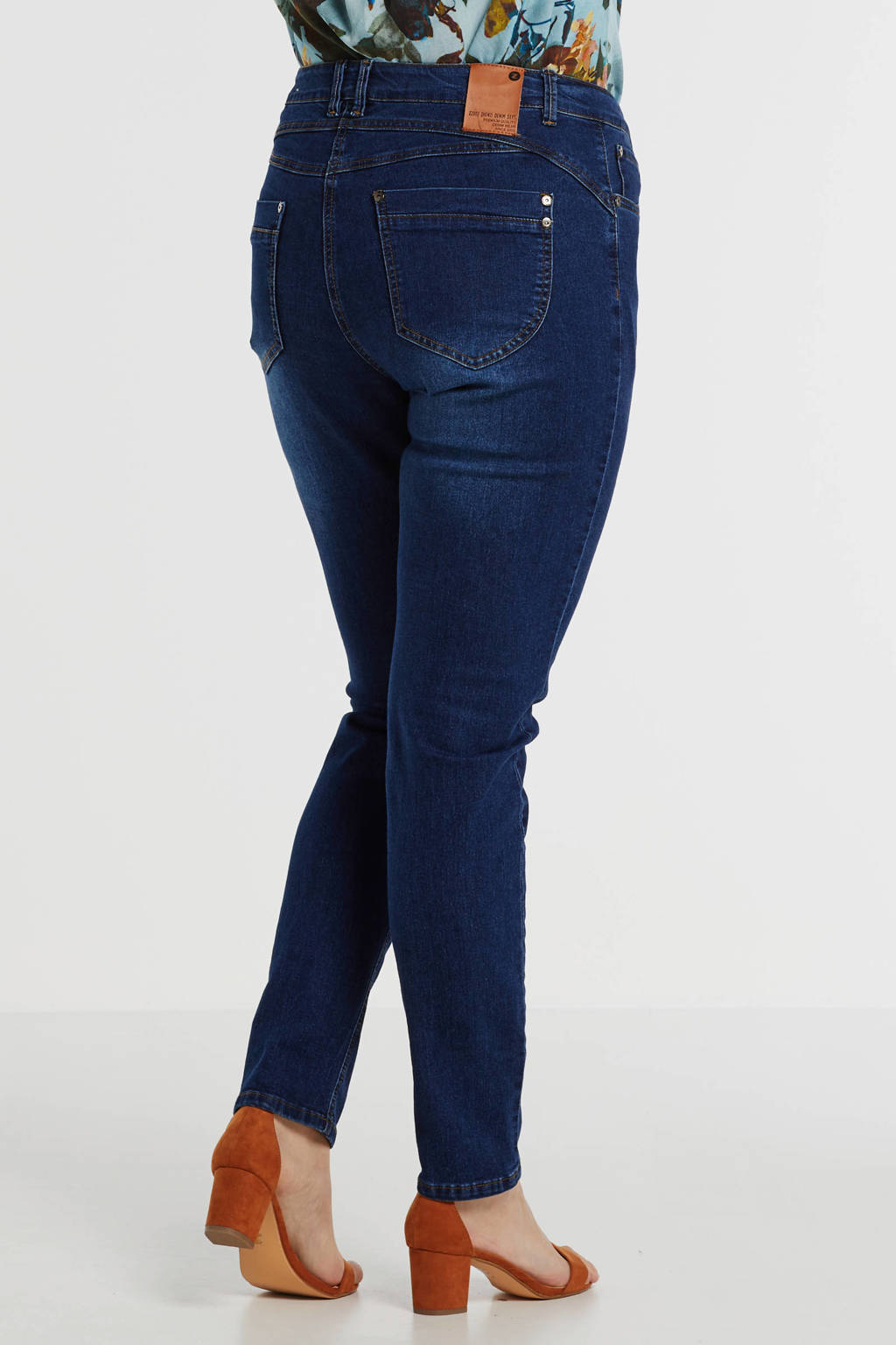 Zhenzi slim fit jeans blauw, Blauw