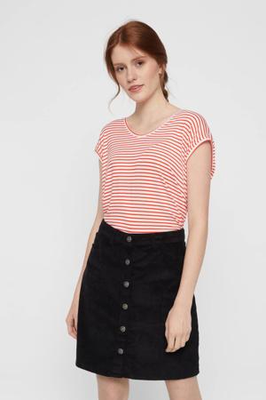 gestreept T-shirt rood/wit