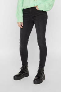PIECES skinny jeans PCDELLY zwart, Zwart