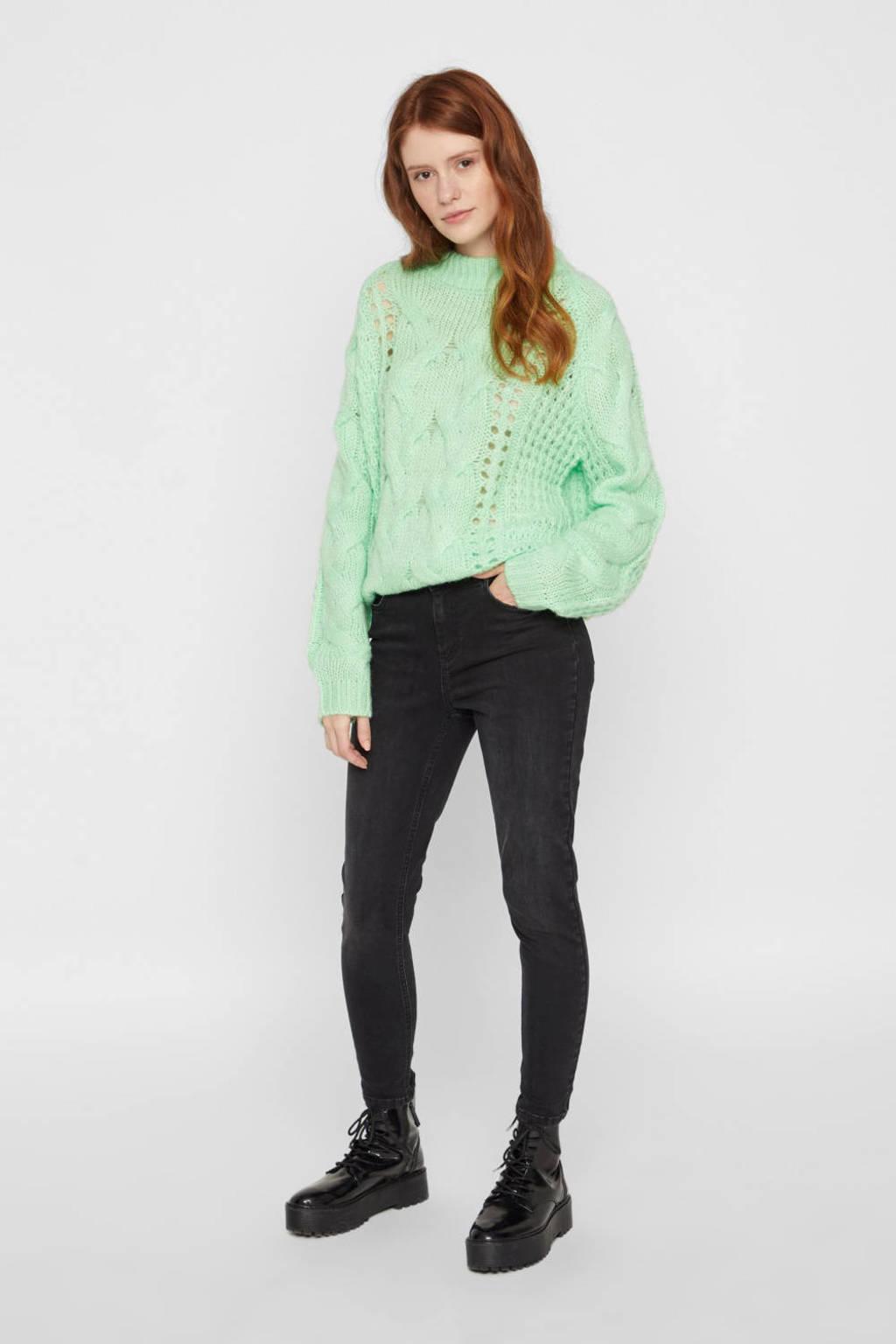 PIECES skinny jeans zwart, Zwart