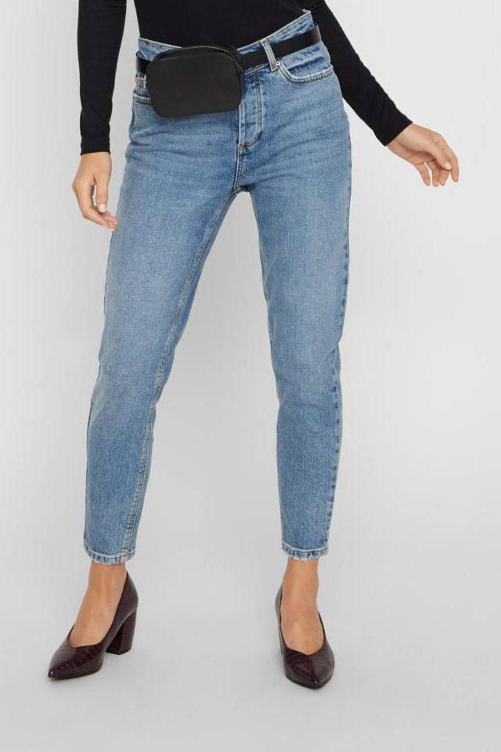 PIECES high waist slim fit jeans PCCARA blauw, Blauw