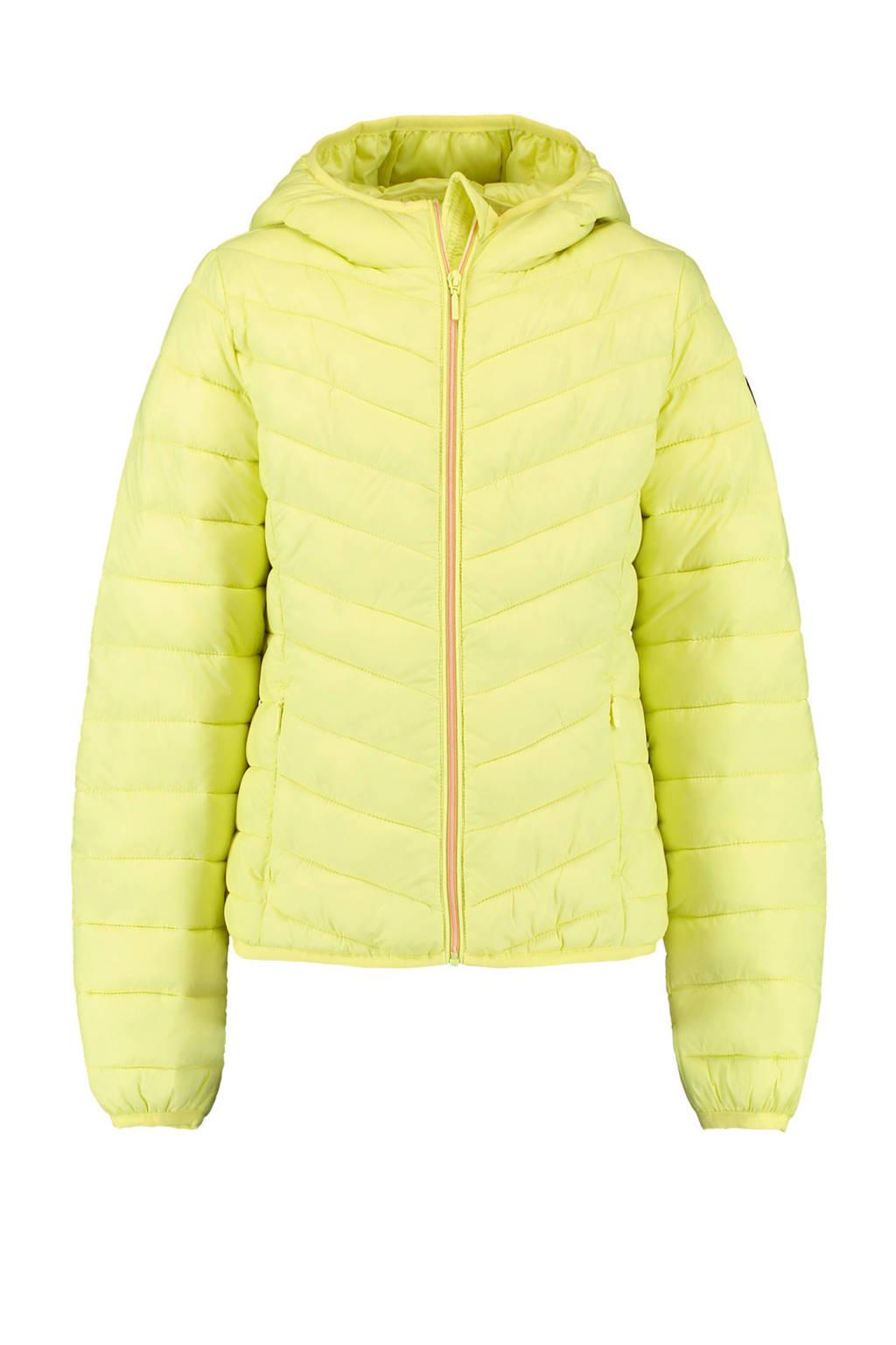 America Today Junior gewatteerde tussenjas Alice neon geel, Neon geel