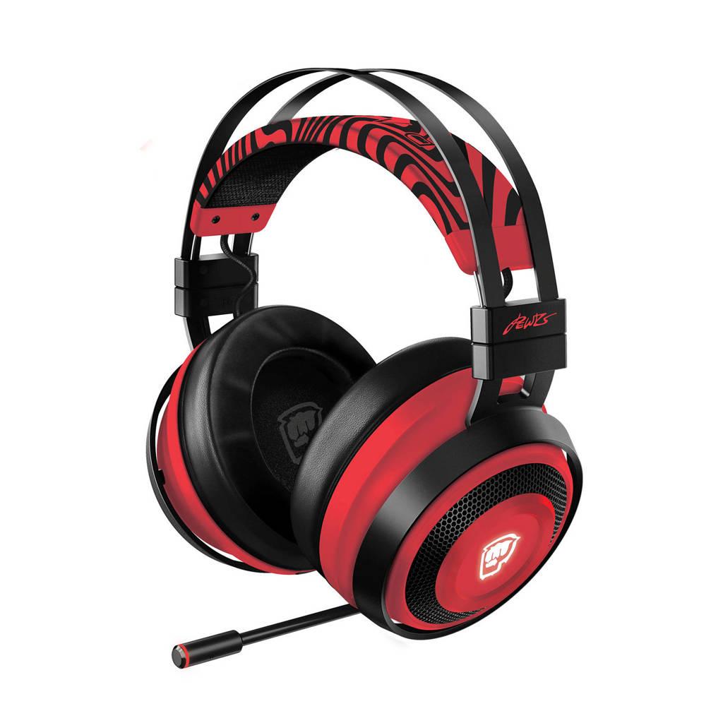 Razer  Nari Ultimate draadloze gaming headset PewDiePie edition, Zwart/rood