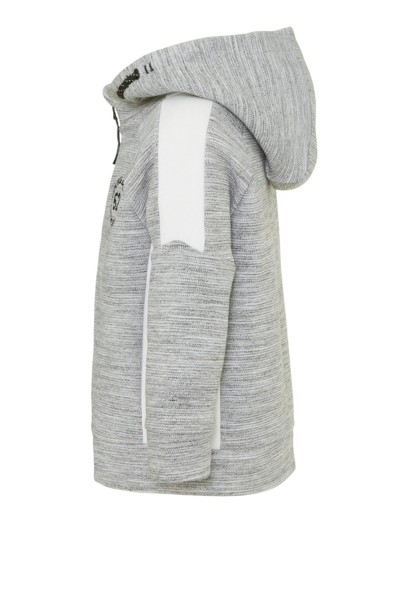 C&A Palomino vest met borduursels lichtgrijszwartwit | wehkamp