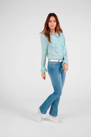 flared jeans denim blauw