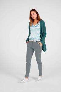 Expresso tapered fit broek met all over print blauw, Blauw