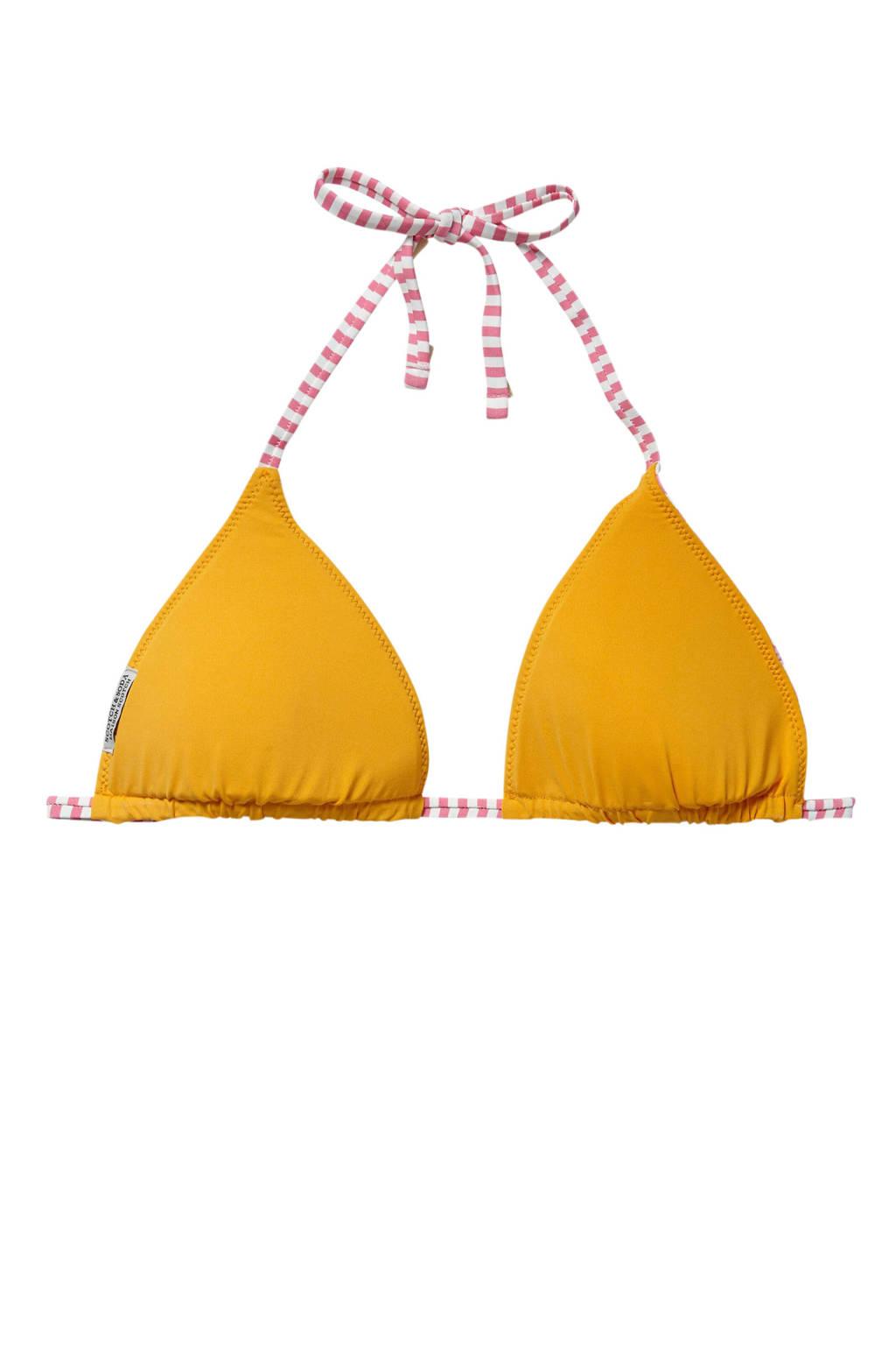 Scotch & Soda reversible triangel bikinitop geel/rood, Geel/rood