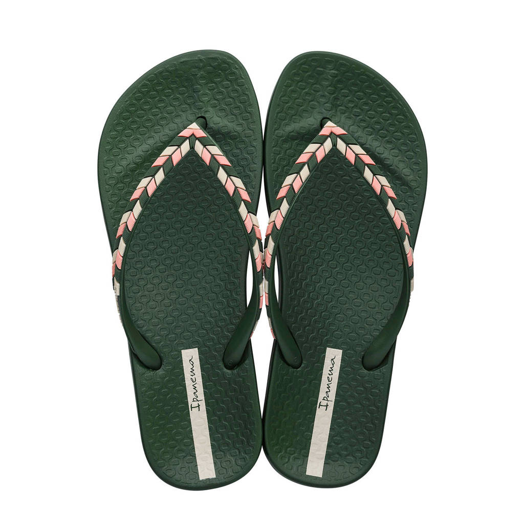 Ipanema Anatomic Lovely  teenslippers groen/roze/wit, Groen/roze/wit
