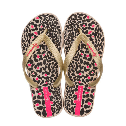 Ipanema Classic Kids teenslippers met panterprint