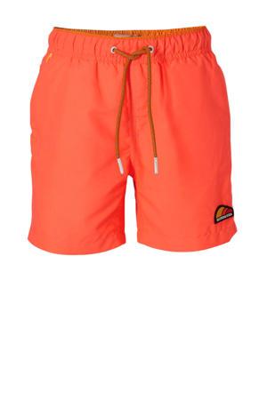 zwemshort met magic print fluor oranje