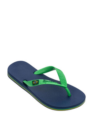 Classic Brasil teenslippers blauw/groen
