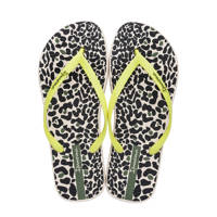 Ipanema  Animal Print teenslippers beige/geel, Beige/geel