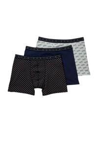 Scotch & Soda boxershort (set van 3), Zwart/grijs/blauw