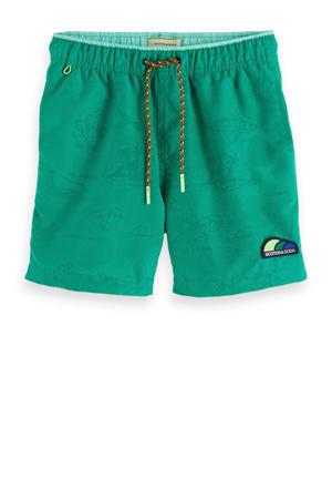 zwemshort met magic print groen