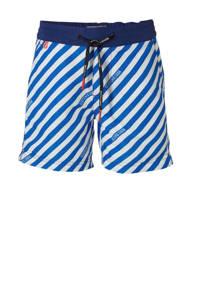 Scotch & Soda zwemshort blauw/wit, Blauw/wit