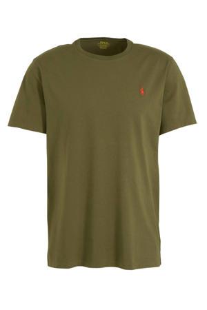 T-shirt met logo mosgroen
