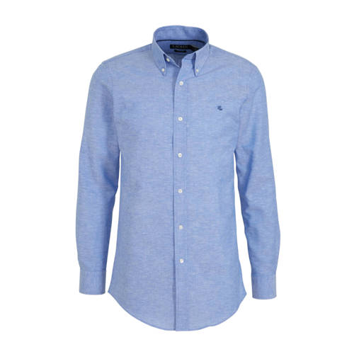 POLO Ralph Lauren slim fit overhemd met linnen lic