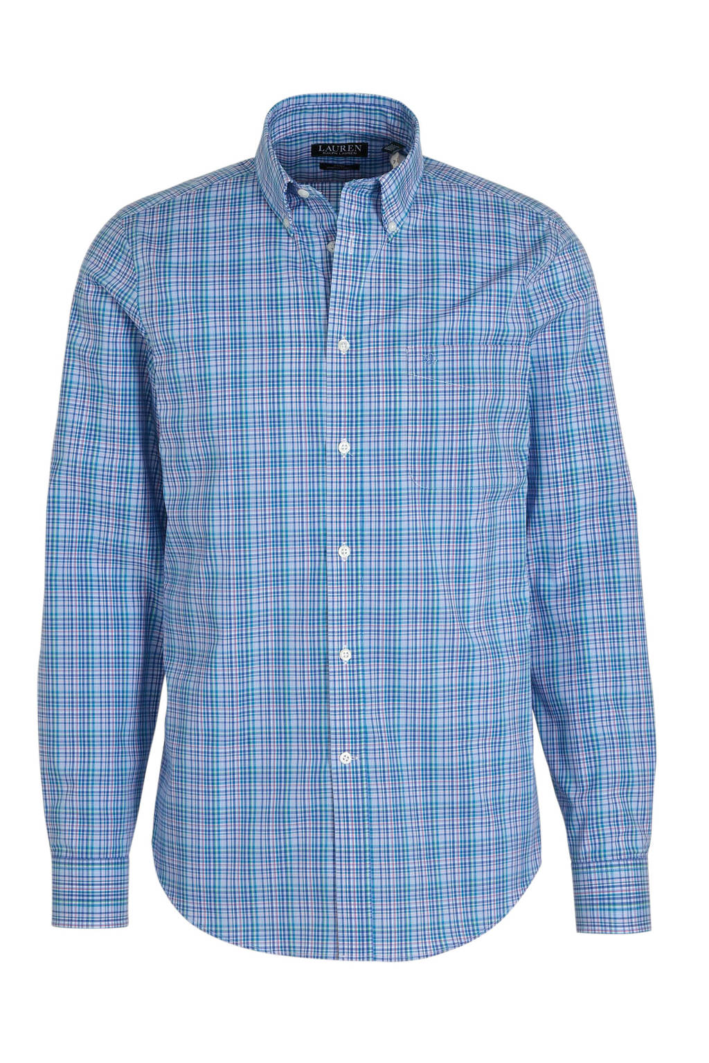 POLO Ralph Lauren geruit slim fit overhemd blauw, Blauw