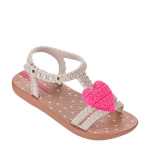My First Ipanema  teenslippers bruin/roze/wit