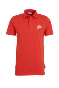 Purewhite polo met logo rood, Rood