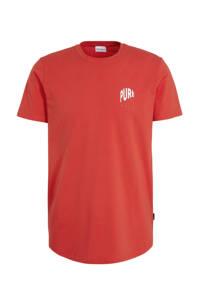 Purewhite T-shirt rood, Rood