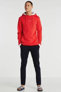 Purewhite hoodie met logo rood, Rood
