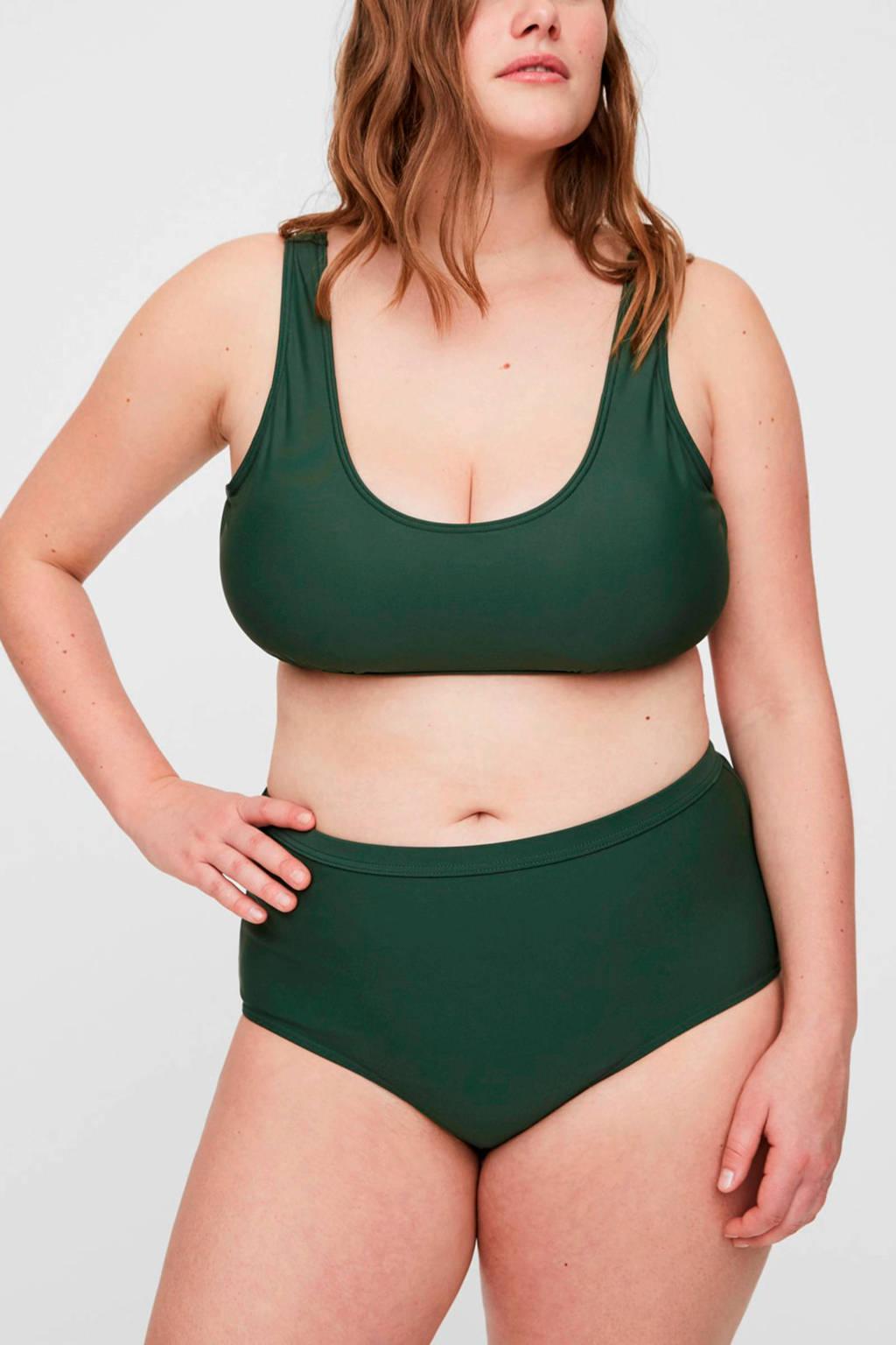 JUNAROSE high waist bikinibroekje Jules groen, Groen