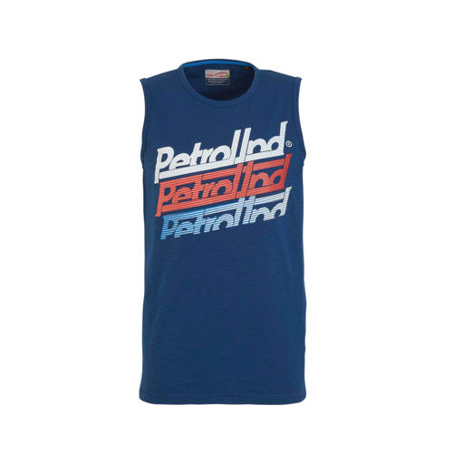 Petrol Industries T-shirt met logo donkerblauw