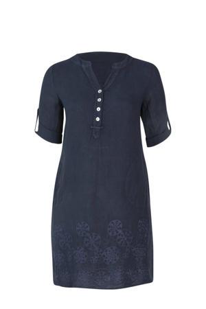 linnen jurk marine