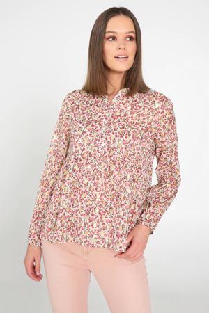 gebloemde blouse roze