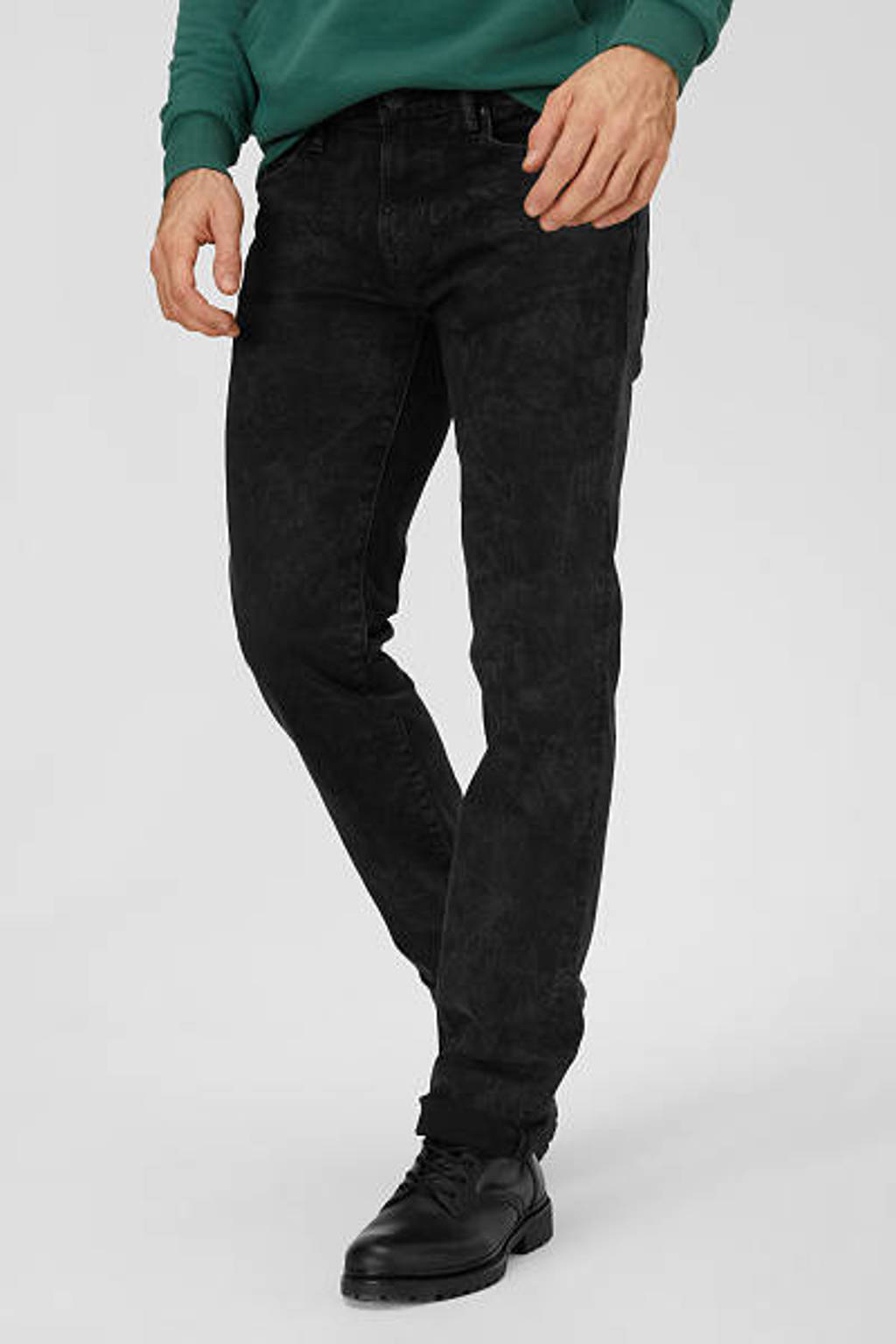 C&A The Denim slim fit jeans zwart, Zwart