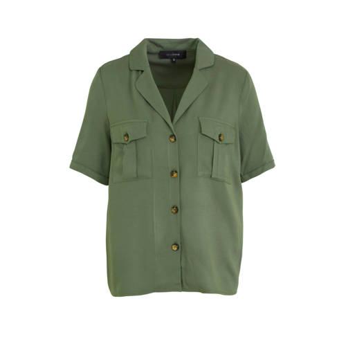 anytime safari-style blouse groen