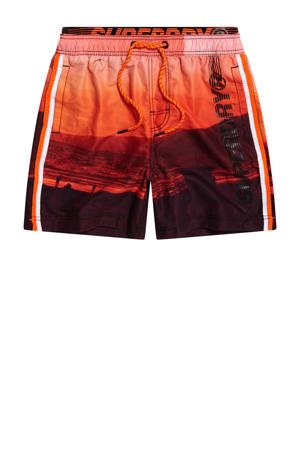 zwemshort oranje/zwart