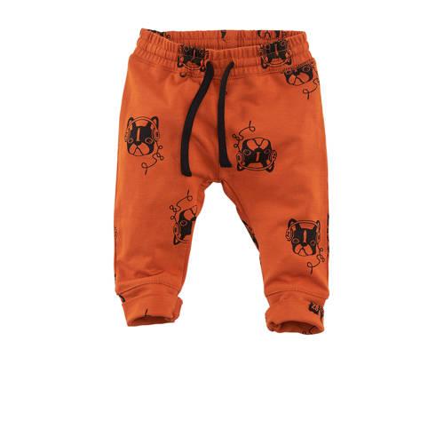 Z8 broek Berne all over print oranje/zwart