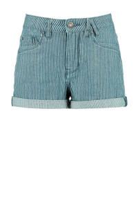 America Today Junior gestreepte jeans short light denim, Light denim
