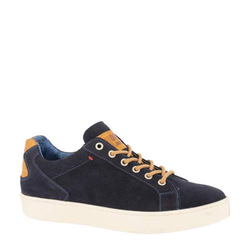 AM SHOE su??de sneakers donkerblauw