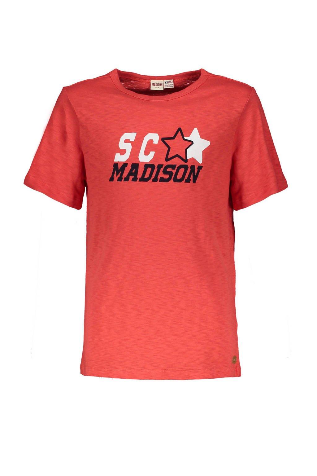 Street called Madison T-shirt Hey Charlie met printopdruk rood, Rood