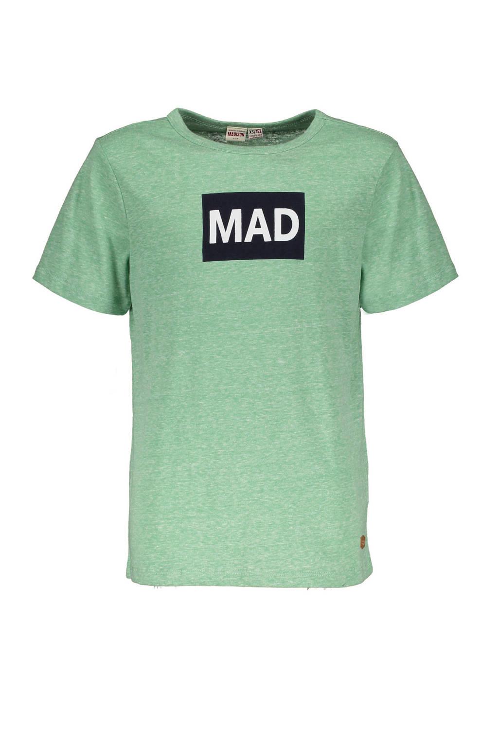 Street called Madison T-shirt Hey Charlie met printopdruk groen, Groen
