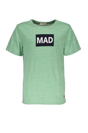 T-shirt Hey Charlie met printopdruk groen
