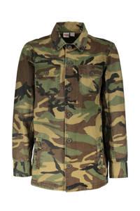 Street called Madison blouse I'am the one met camouflageprint groen/donkergroen, Groen/donkergroen