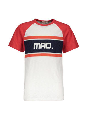 T-shirt Hey Charlie met printopdruk wit/rood/zwart